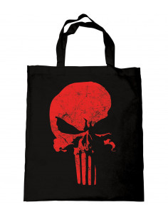 Sac Tote bag Daredevil - The Punisher Skull RED