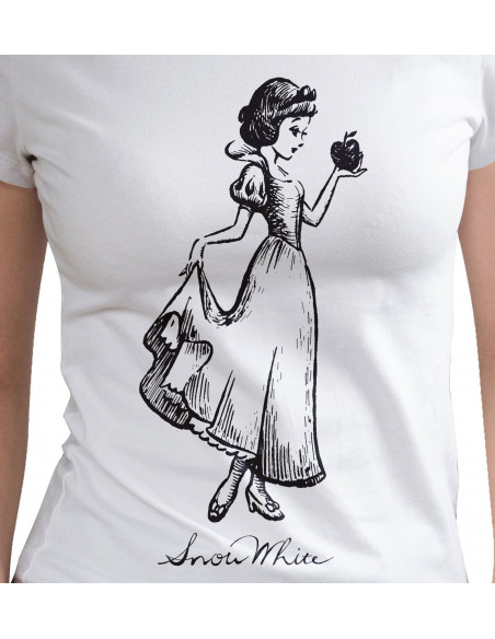 T-shirt Femme Blanche-Neige Disney Princesses - Drawing Engraving