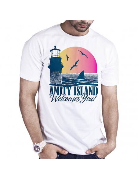T-shirt Les Dents de la Mer - Amity Island Welcome you