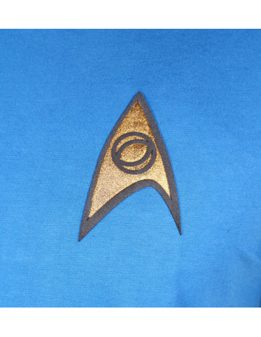 T-shirt Star Trek - Costume Spock Bleu