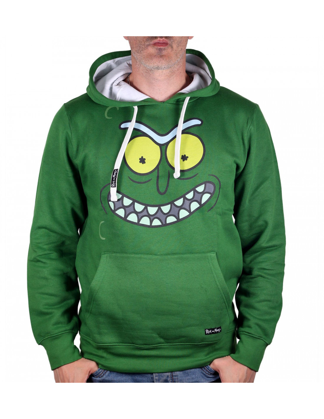 Rick and Morty Hoodie Flip The Pickle Men/'s Green
