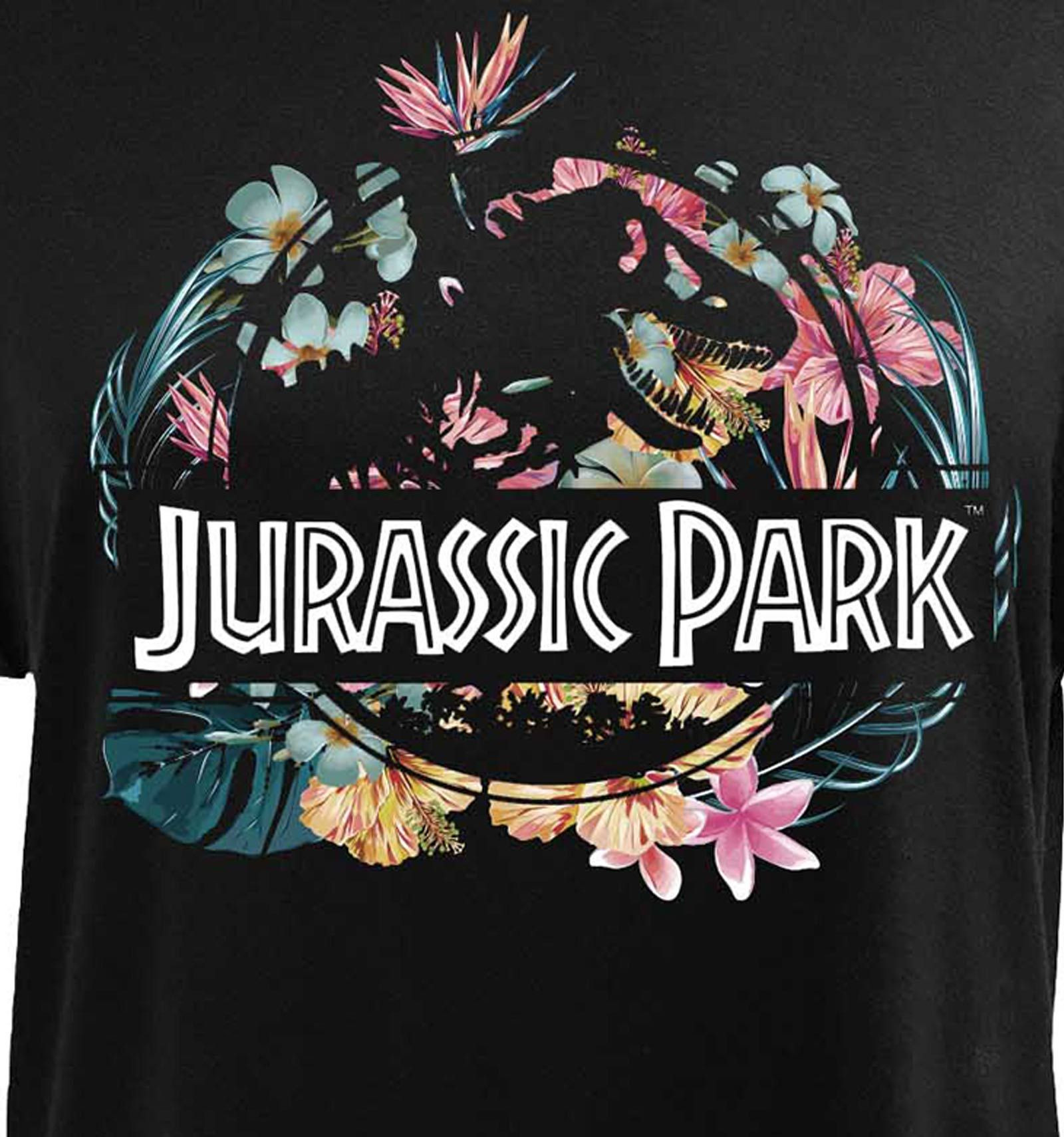 T Shirt Femme Jurassic Park Tropical Flower