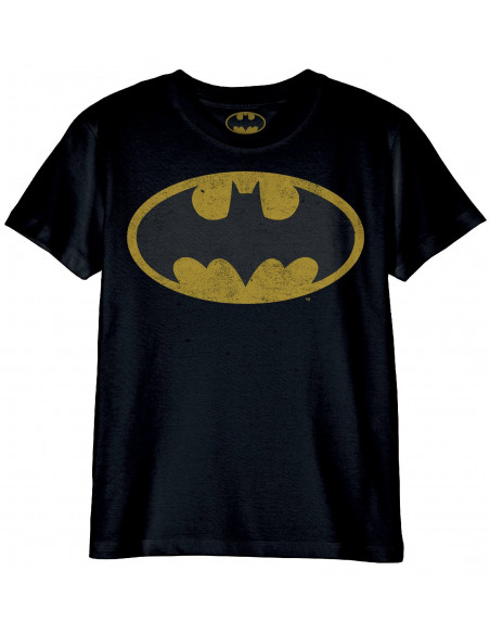 T-shirt Enfant Dc Comics - Batman Logo Grunge