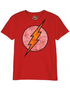 T-shirt Enfant DC Comics - Flash Logo Grunge