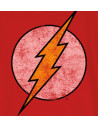 Tshirt Enfant DC Comics - Flash Logo Grunge