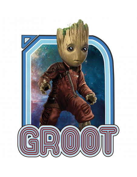 Guardians of the Galaxy Marvel T-shirt - Space Groot Vintage