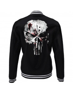 The Punisher Marvel College Jacket - Skull