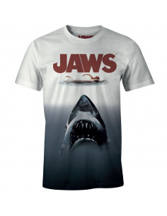 T-shirt Les Dents de la Mer - Poster Jaws Tye and Dye
