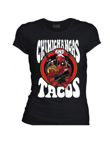 T-shirt Femme Deadpool Marvel - Chimichangas and Tacos