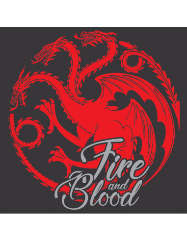 T-shirt Femme Game of Thrones - Fire & Blood