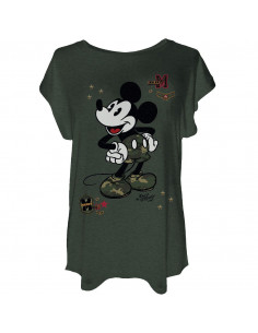 T-shirt Femme Disney - Military Mickey