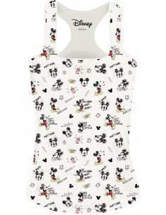 Disney Woman's Tank Top - Mickey Sketch