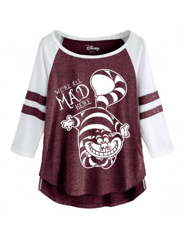 Disney Alice in Wonderland Woman's T-shirt - Mad Cheshire Cat