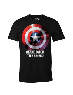 T-shirt Captain America Marvel - Take Back The Shield