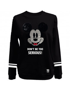 Sweat-shirt Femme Disney Mickey - Mickey Head Sequin