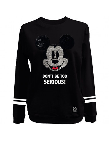 Disney Mickey Woman's Sweatshirt - Mickey Head Sequin