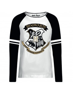 T-shirt Femme Harry Potter - Hogwarts Gold Glitter