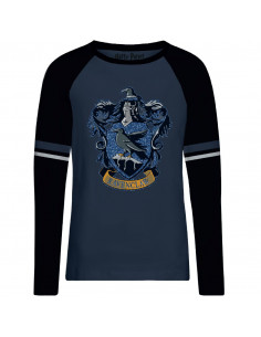 T-shirt Femme Harry Potter - Ravenclaw Blue Glitter