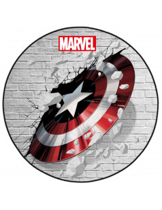 Captain America Marvel Floor Mat - Captain Shield