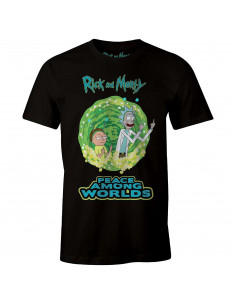 T-shirt Rick et Morty - Peace Among Worlds