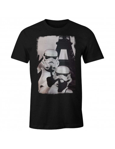 Original Stormtrooper T-shirt - Trooper Selfie Eiffel Tower