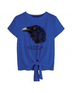 Harry Potter Woman's T-shirt - Ravenclaw Revers Sequin