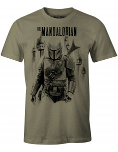 T-shirt Star Wars The Mandalorian - Mandalorian VS Stormtroopers
