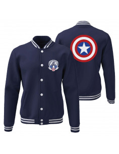 Captain America Marvel College Jacket - Captain America Shield
