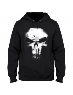The Punisher Marvel Sweatshirt - Skull Leather Effect