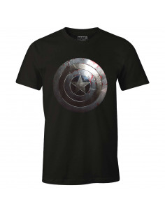 T-shirt Captain America Marvel - Captain Shield Silver