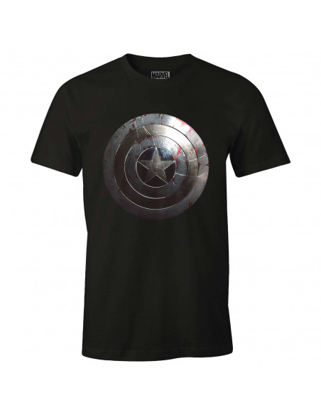 Captain America Marvel T-shirt - Captain Shield Silver