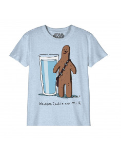 Star Wars Kid's T-shirt - Wookiee Cookie And Milk