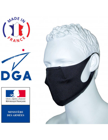Washable CAT 2 mask for the general public - Made in France - DGA