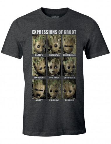Guardians of the Galaxy Marvel T-shirt - Expressions of Groot
