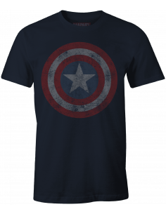 T-shirt Captain America Marvel - Captain Logo Grunge Vintage