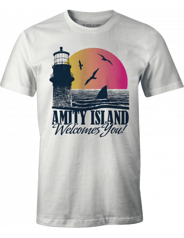 Jaws T-shirt - Amity Island Welcome you
