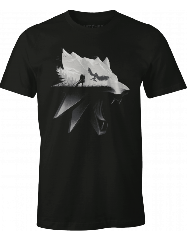T-shirt The Witcher - Wolf Silhouette