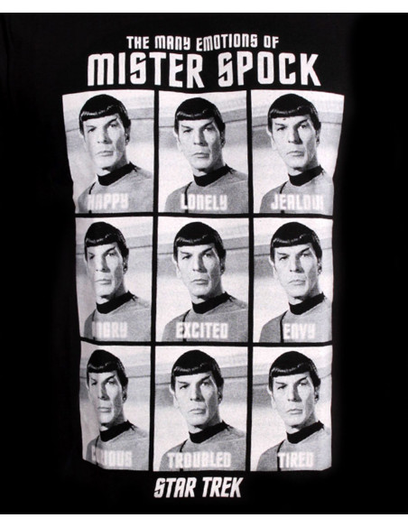 T-shirt Star Trek - Spock Emotions