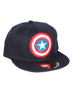 Snapback Marvel Cap - Captain America Shieldr Navy