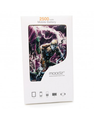 Batterie externe Aquaman Android et IPhone 2500mAh